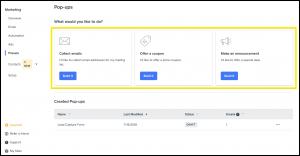 将电子邮件整合到您的营销中的4个步骤popups-choose-type-iStarto百客聚