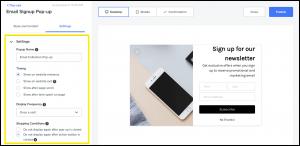 将电子邮件整合到您的营销中的4个步骤popups-settings-iStarto百客聚