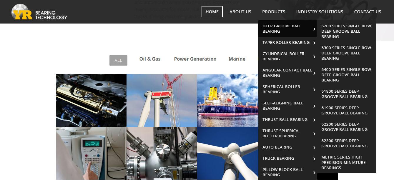 宇瑞轴承-网站设计-网站层级架构清晰