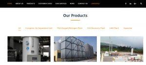 建站案例- 石油设备杭州川空通用公司选择百客聚建站服务-国际化设计