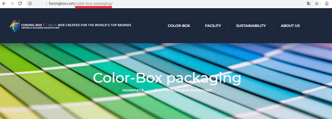 彩盒包装材料厂家芙蓉印务选择百客聚建站服务-url标准化