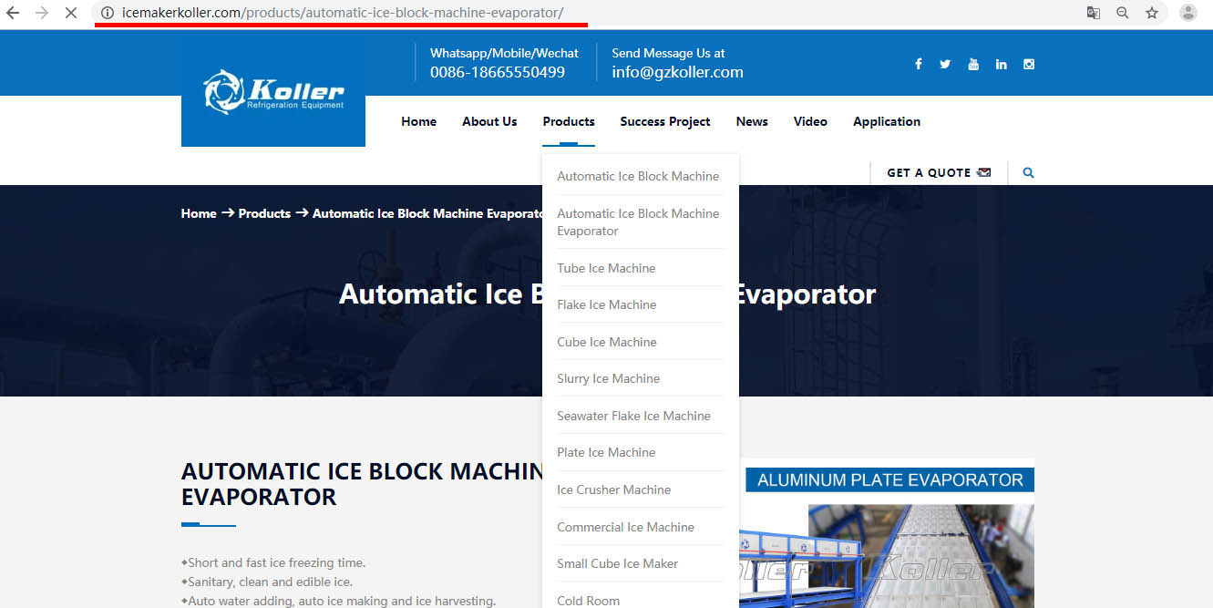 URL标准化-制冰机广州科勒尔选择iStarto百客聚建站服务